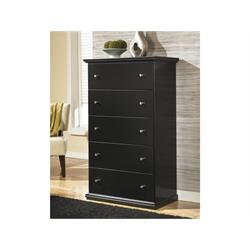 Maribel Black Five Drawer Chest B138-46 Image