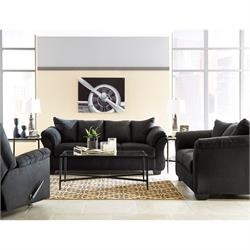 Darcy Black Sofa and Loveseat 75008-35-38 Image