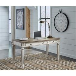 Realyn White & Brown Home Office Desk H743-34 Image