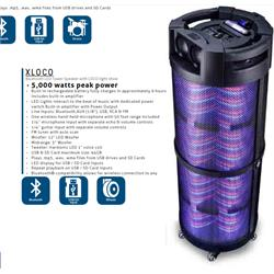"Rechargeable 12"" Bluetooth Speaker XLOCO Image"