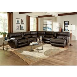 Tivoll Walnut Power Reclining Leather Sectional 874476-64473-4478-4474 Image